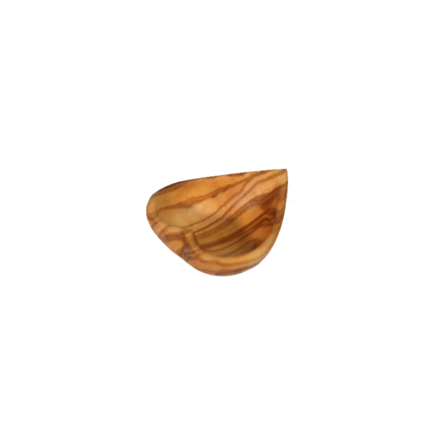 Coeur creux décoratif en bois d'olivier