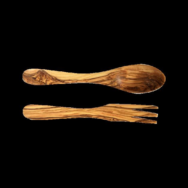 Couverts à Salade Parisien en bois d'olivier réf 1225 et 1226