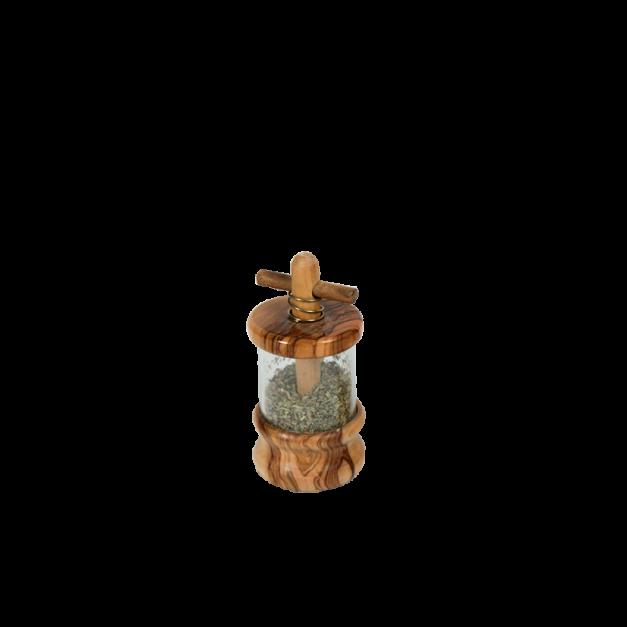 Moulin à herbe en bois d'olivier diamètre 6 cm réf-847