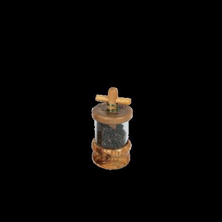 Moulin à Poivre en bois d'olivier diamètre 6 cm réf-850