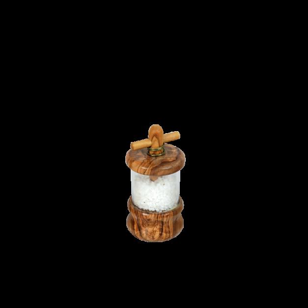 Moulin à sel en bois d'olivier diamètre 6 cm réf-847