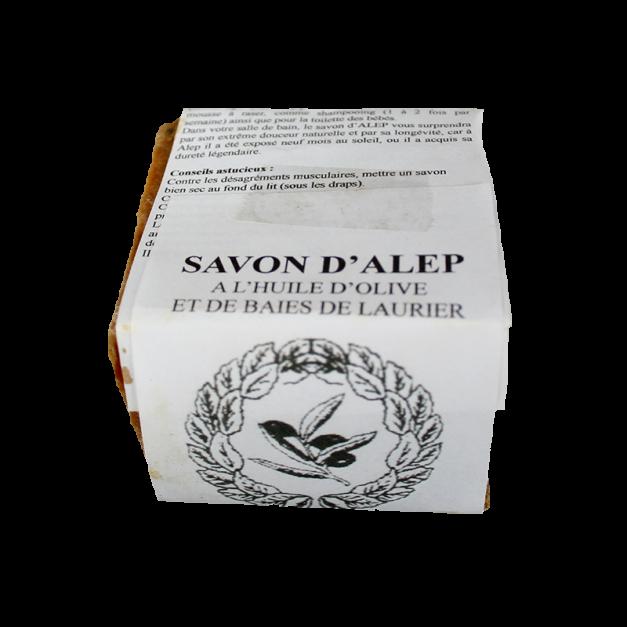 Savon d'Alep 100 % naturel à l'huile d'olive (70 %) et huile de baie de laurier (25 %) - Pain 200 gr