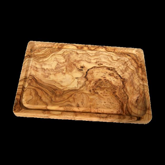 Planche à découper rectangulaire en bois d'olivier - réf 295