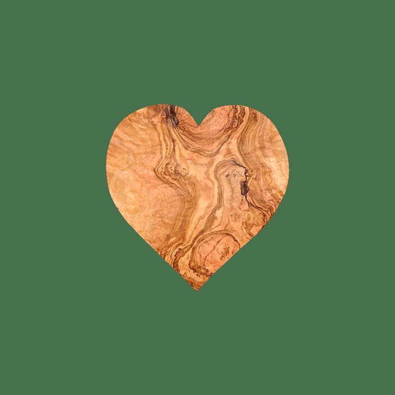 Planche d couper en bois d 39 olivier en forme de c ur - Modele de coeur a decouper ...