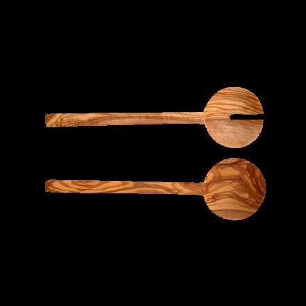 Couverts Plats en bois d'Olivier