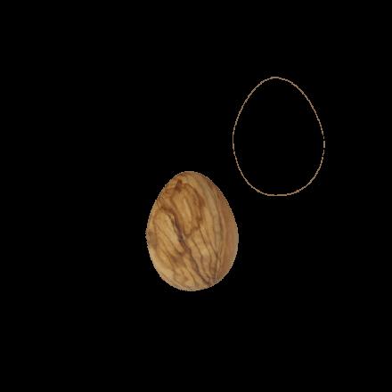 Œuf en bois d'olivier